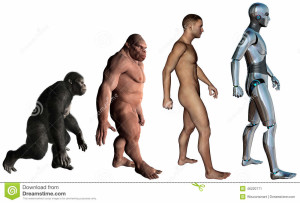 funny-man-evolution-illustration-isolated-monkey-neanderthal-cyborg-robot-white-46220771